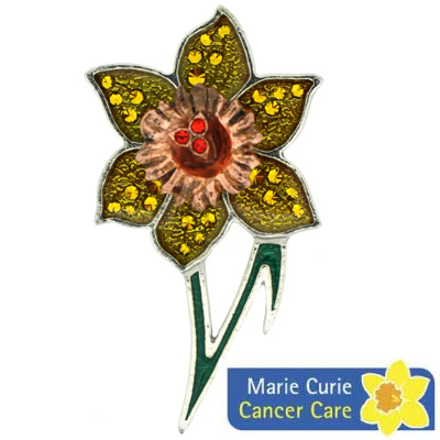 Marie Curie Cancer Appeal Daffodil Brooch