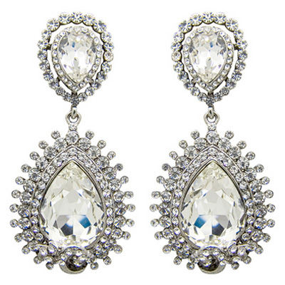 c69f15dc65486 Butler & Wilson Crystal Elaborate Teardrop Shape Earrings