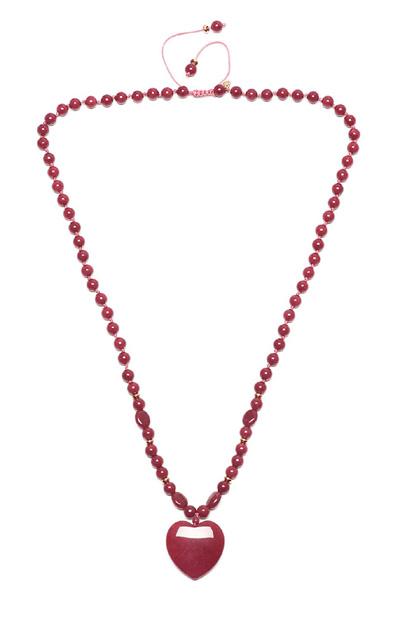 Lola Rose Kimi Red Plum Quartzite Earrings