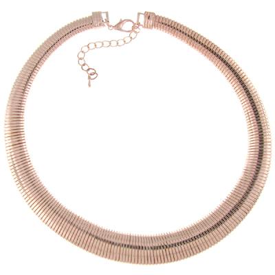 Fashion Flexi Gunmetal Snake Choker Collar Necklace NzDJ6ezPd