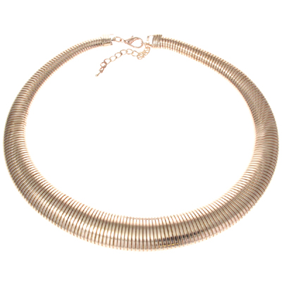 Fashion Flexi Gunmetal Snake Choker Collar Necklace e6uKgofzsL